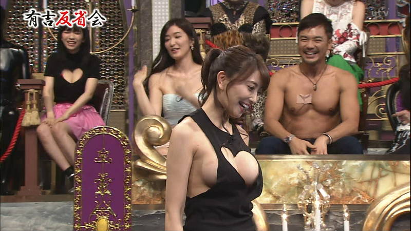 【森咲智美キャプ画像】谷間と横乳アピールが酷い衣装で番組出演した森咲智美www 04
