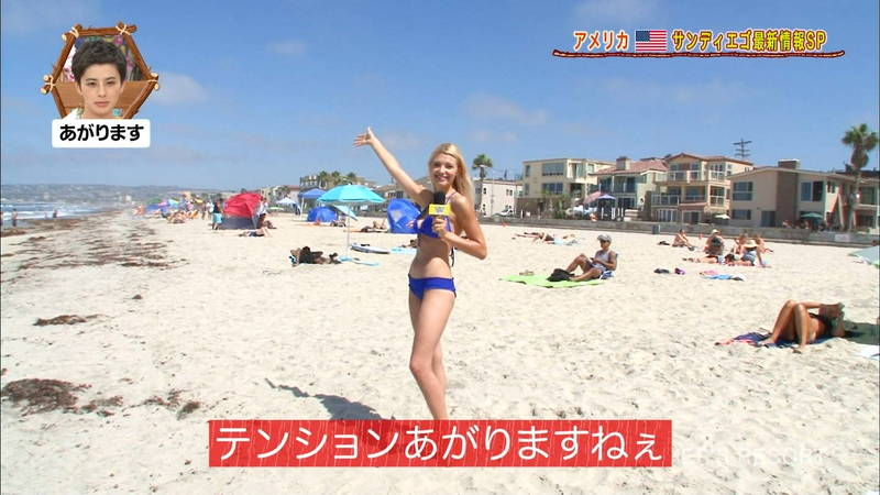 【外国人キャプ画像】ビキニレポーターがいちいちエロい海外からのレポートwww 07