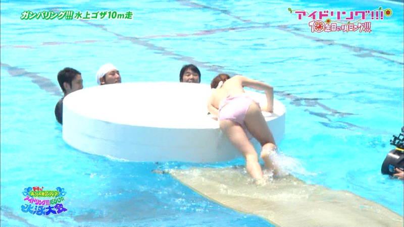 【大川藍キャプ画像】他のグループアイドルメンバーよりも一際大きかった大川藍の巨乳についてwww 27