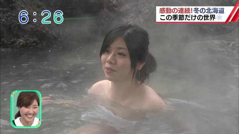 【温泉キャプ画像】雪ロケなのに穴あきジーパンできた女の子が温泉で生き返るwww 07