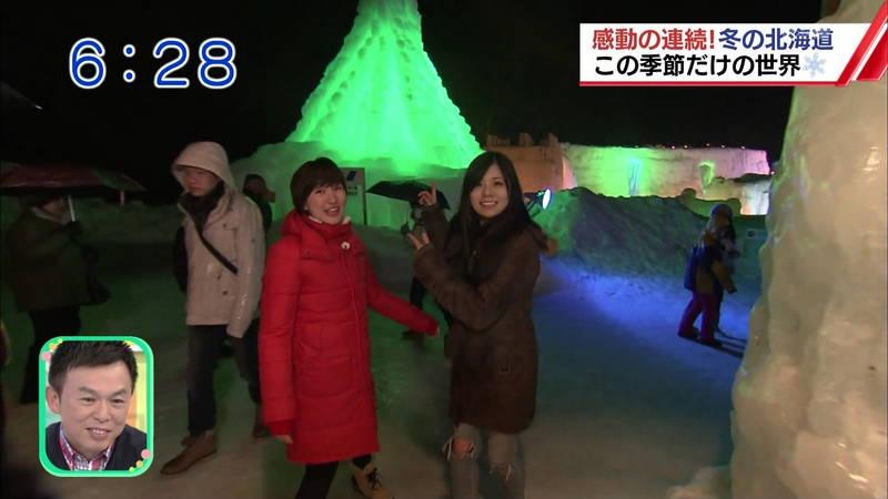 【温泉キャプ画像】雪ロケなのに穴あきジーパンできた女の子が温泉で生き返るwww 20