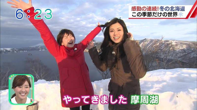 【温泉キャプ画像】雪ロケなのに穴あきジーパンできた女の子が温泉で生き返るwww 25