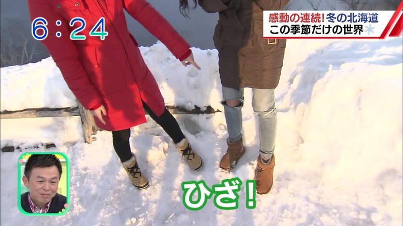 【温泉キャプ画像】雪ロケなのに穴あきジーパンできた女の子が温泉で生き返るwww 26
