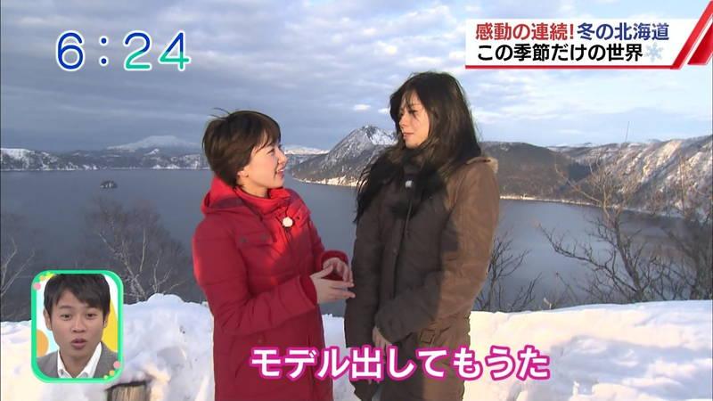 【温泉キャプ画像】雪ロケなのに穴あきジーパンできた女の子が温泉で生き返るwww 27
