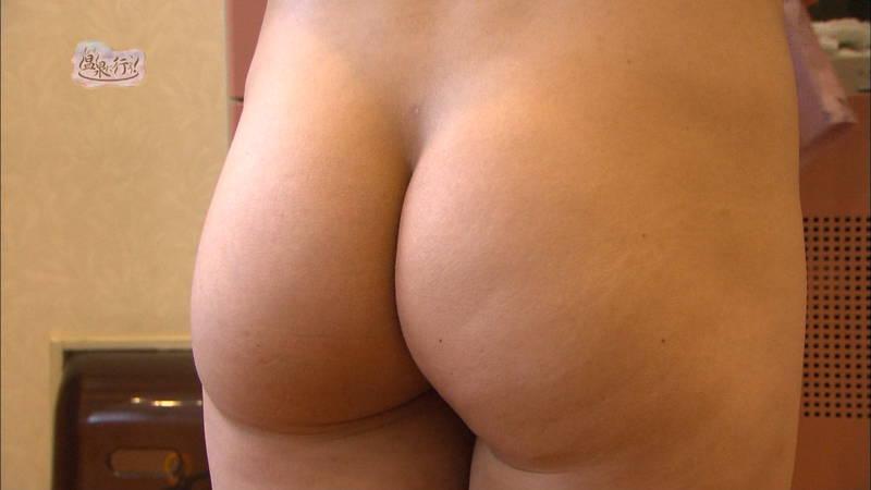 【美尻キャプ画像】例の全裸で入浴する番組でムッチリ美尻を大胆披露する美女www 30
