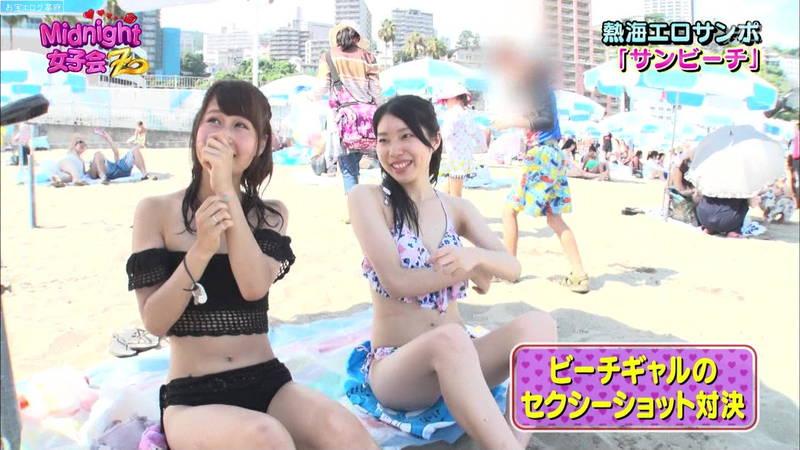 【素人キャプ画像】熱海でビキニの素人さんを脱がしてセクシーショットを撮る番組ってwww 09