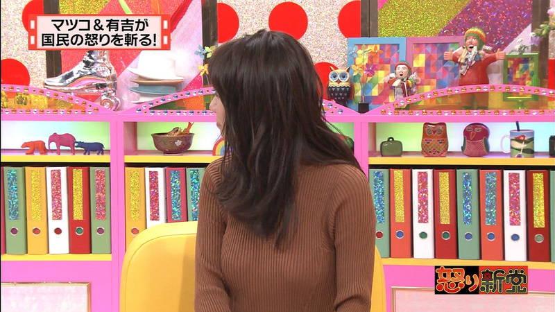 【着衣キャプ画像】秋になると増えてくるセーターおっぱいな女性たちwww 05