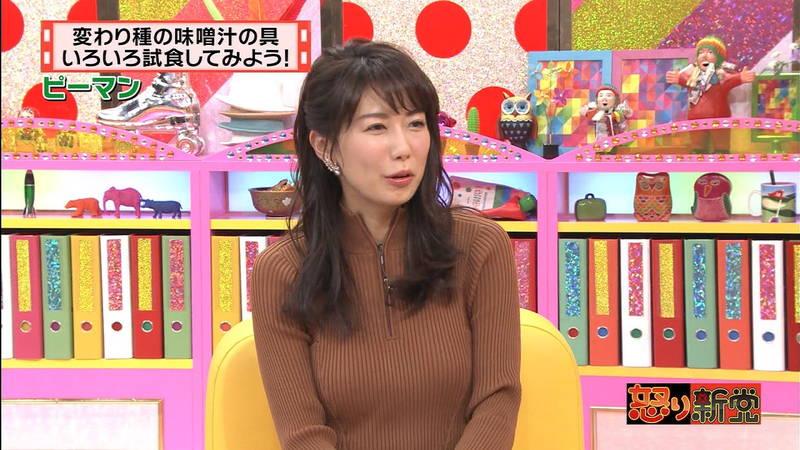 【着衣キャプ画像】秋になると増えてくるセーターおっぱいな女性たちwww 06