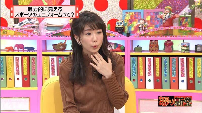 【着衣キャプ画像】秋になると増えてくるセーターおっぱいな女性たちwww 09