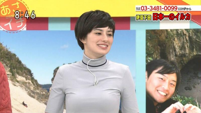 【着衣キャプ画像】秋になると増えてくるセーターおっぱいな女性たちwww 18