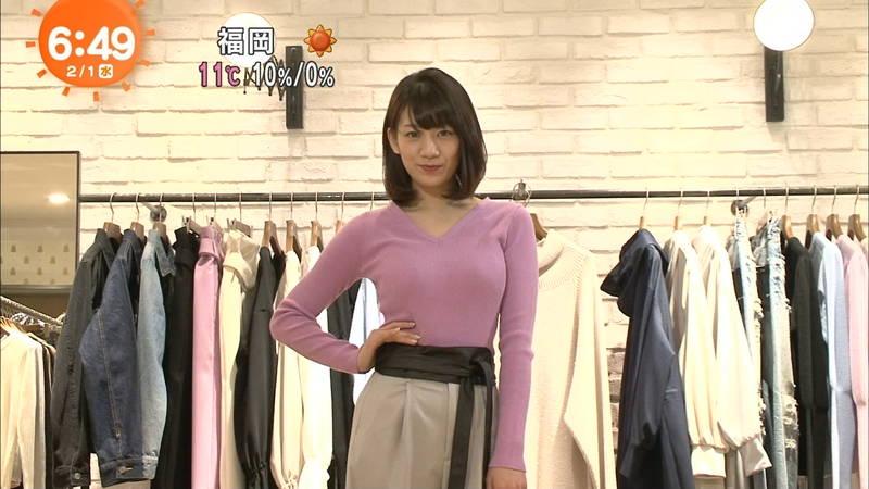 【着衣キャプ画像】秋になると増えてくるセーターおっぱいな女性たちwww 28