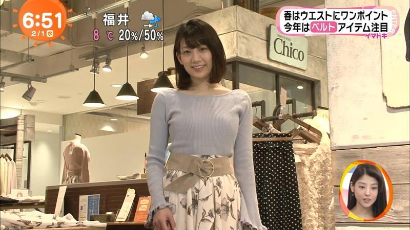 【着衣キャプ画像】秋になると増えてくるセーターおっぱいな女性たちwww 29
