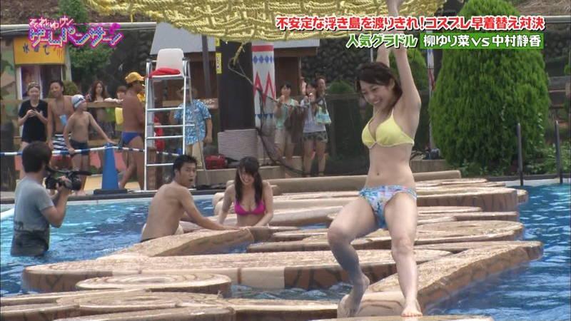 【中村静香キャプ画像】自分の巨乳のアピール方法をよくわかっている中村静香www