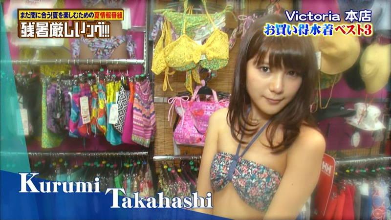 【ビキニキャプ画像】アイドルメンバーが試着してビキニを紹介していた番組でケツを楽しむwww 28