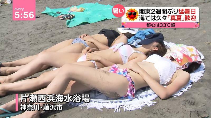 【素人キャプ画像】毎日のように素人さんの水着が見れるならずっと夏でよかったwww 10