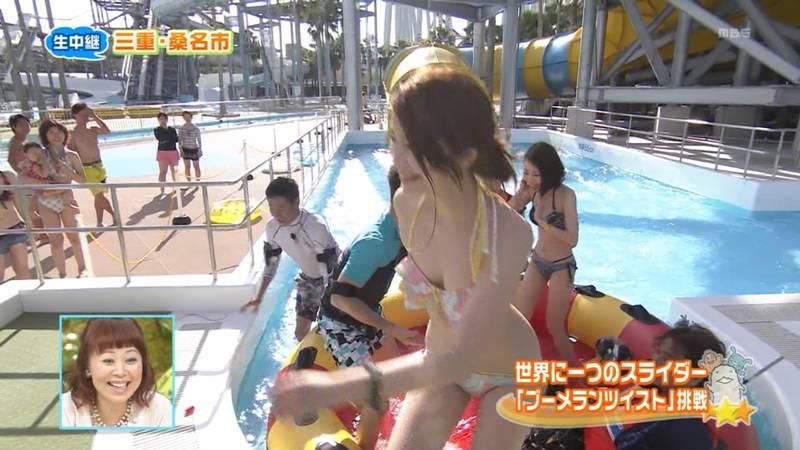 【素人キャプ画像】夏にたくさん映っていたプールやビーチの水着娘たち!w 21