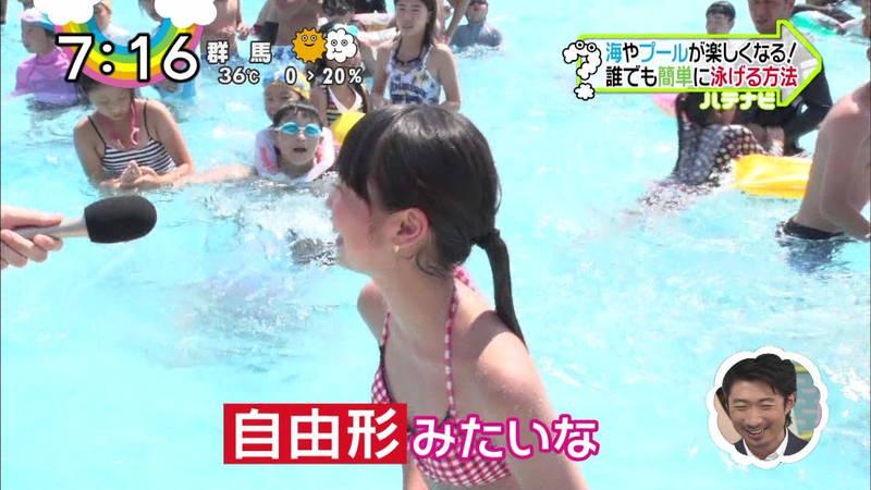 【素人キャプ画像】夏にたくさん映っていたプールやビーチの水着娘たち!w 25