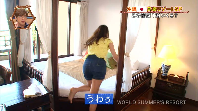 【素人キャプ画像】沖縄の海を布面積少ないビキニでレポートしてくれる素人娘www 05