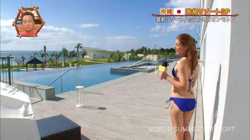 【素人キャプ画像】沖縄の海を布面積少ないビキニでレポートしてくれる素人娘www 20