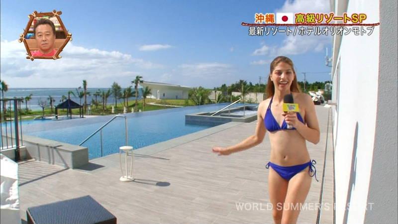 【素人キャプ画像】沖縄の海を布面積少ないビキニでレポートしてくれる素人娘www 24