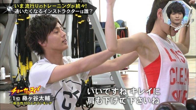 【腋キャプ画像】一所懸命にトレーニングする美女のスレンダーな腋がたまらんwww 16