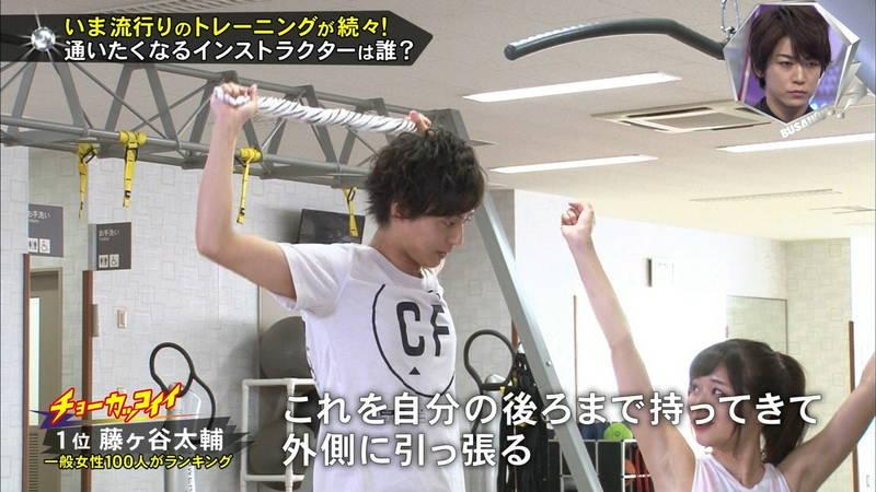 【腋キャプ画像】一所懸命にトレーニングする美女のスレンダーな腋がたまらんwww 17