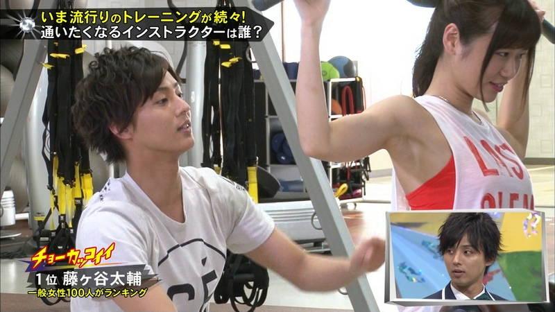 【腋キャプ画像】一所懸命にトレーニングする美女のスレンダーな腋がたまらんwww 19