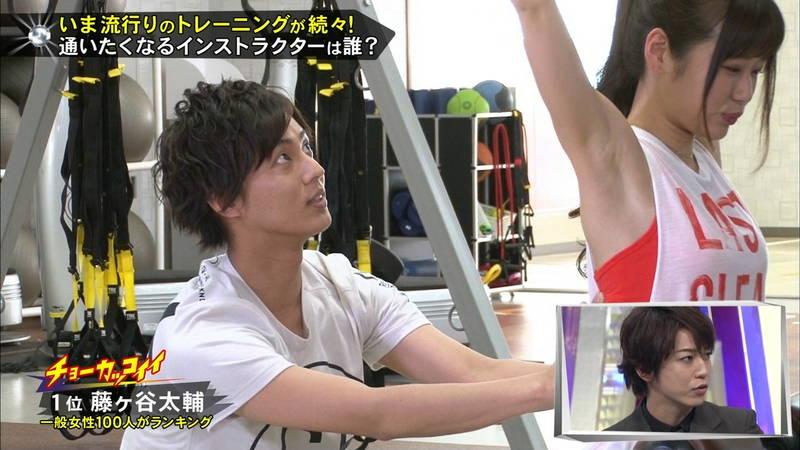 【腋キャプ画像】一所懸命にトレーニングする美女のスレンダーな腋がたまらんwww 21