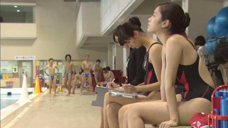 【大政絢キャプ画像】常に競泳水着がエロシーンになってしまう水球ドラマwww 10