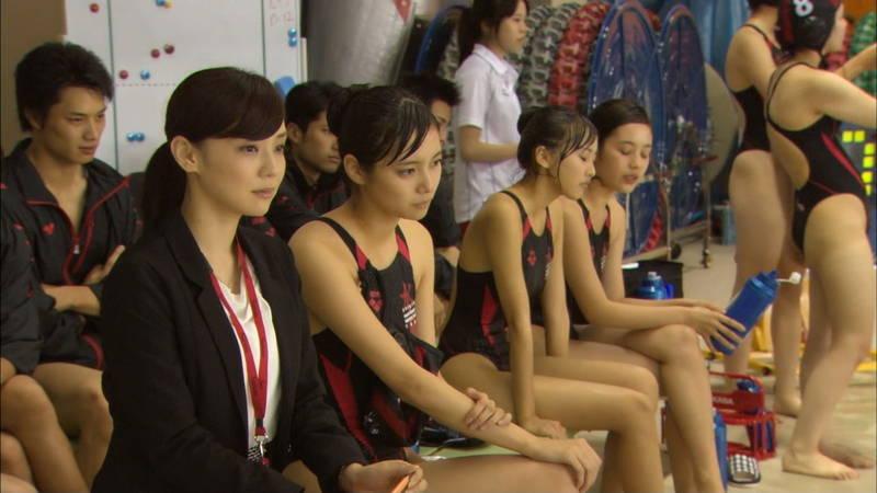 【大政絢キャプ画像】常に競泳水着がエロシーンになってしまう水球ドラマwww 11