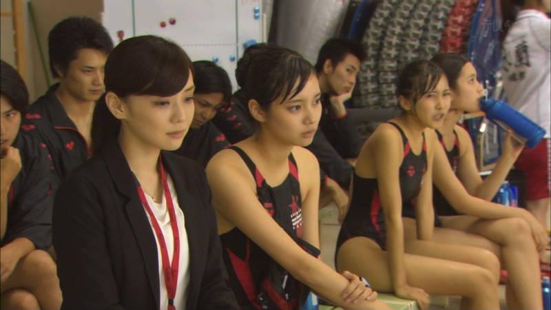 【大政絢キャプ画像】常に競泳水着がエロシーンになってしまう水球ドラマwww 13