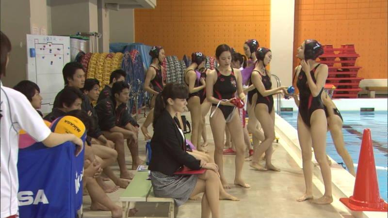 【大政絢キャプ画像】常に競泳水着がエロシーンになってしまう水球ドラマwww 21