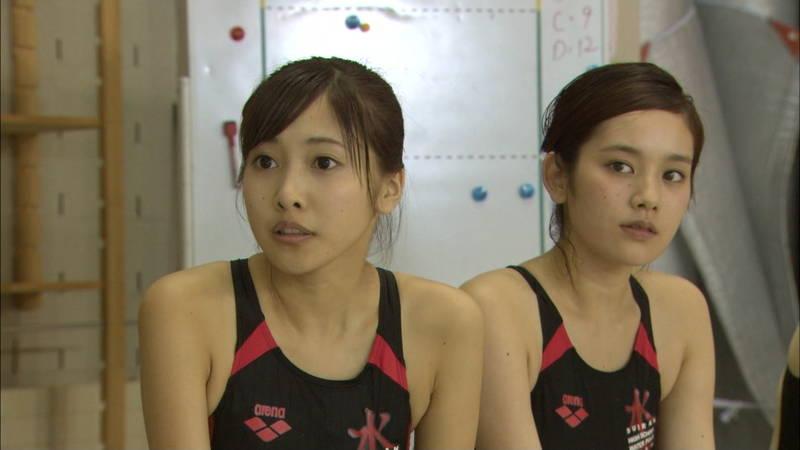 【大政絢キャプ画像】常に競泳水着がエロシーンになってしまう水球ドラマwww 24