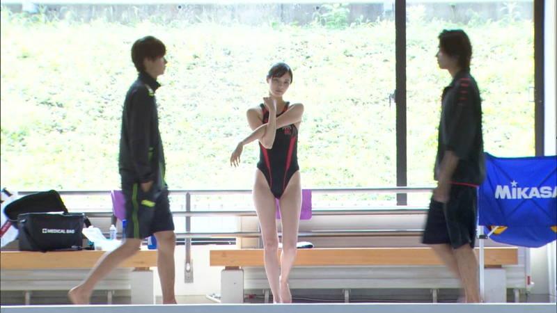 【大政絢キャプ画像】常に競泳水着がエロシーンになってしまう水球ドラマwww 27