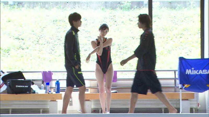 【大政絢キャプ画像】常に競泳水着がエロシーンになってしまう水球ドラマwww 28