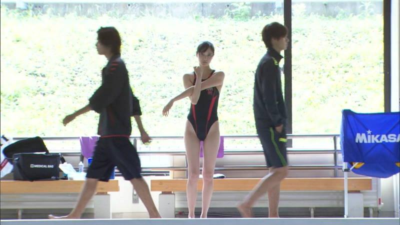 【大政絢キャプ画像】常に競泳水着がエロシーンになってしまう水球ドラマwww 30
