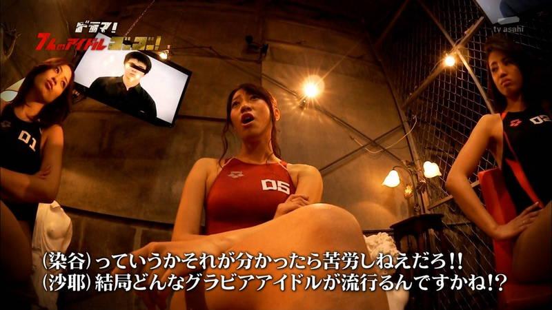 【競泳水着キャプ画像】アイドルがビキニではなく競泳水着を着たらこうなる的なキャプwww 17