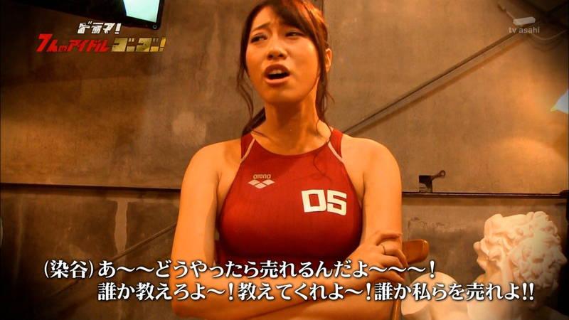 【競泳水着キャプ画像】アイドルがビキニではなく競泳水着を着たらこうなる的なキャプwww 18