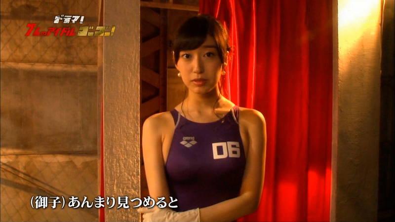 【競泳水着キャプ画像】アイドルがビキニではなく競泳水着を着たらこうなる的なキャプwww 24