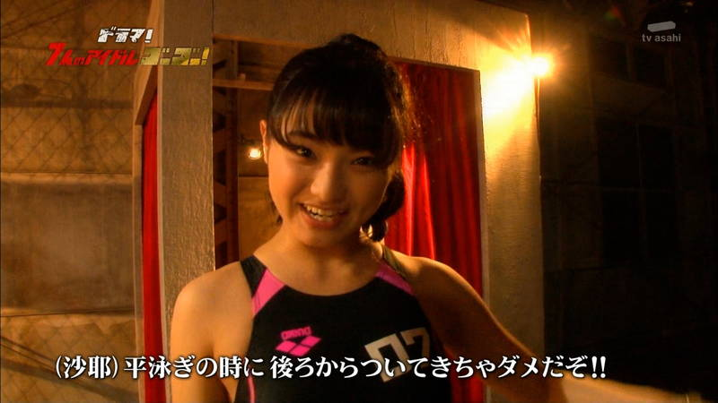 【競泳水着キャプ画像】アイドルがビキニではなく競泳水着を着たらこうなる的なキャプwww 27