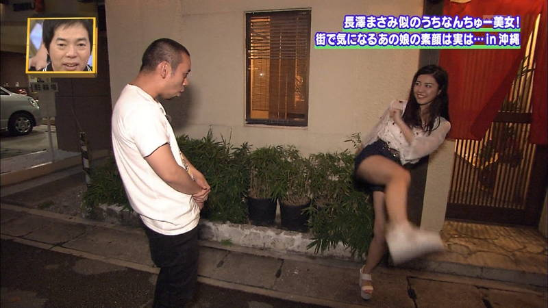 【素人キャプ画像】沖縄で評判の南国美女が予想以上に美人で美脚だったwww