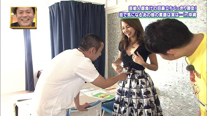 【素人キャプ画像】沖縄で評判の南国美女が予想以上に美人で美脚だったwww 16