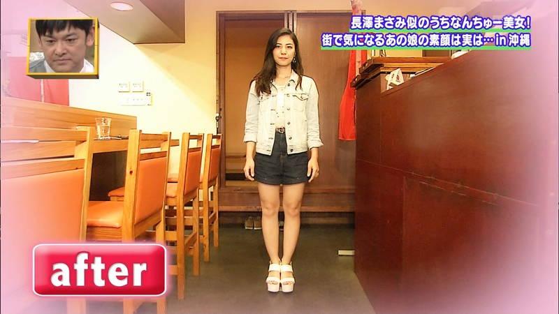 【素人キャプ画像】沖縄で評判の南国美女が予想以上に美人で美脚だったwww 26