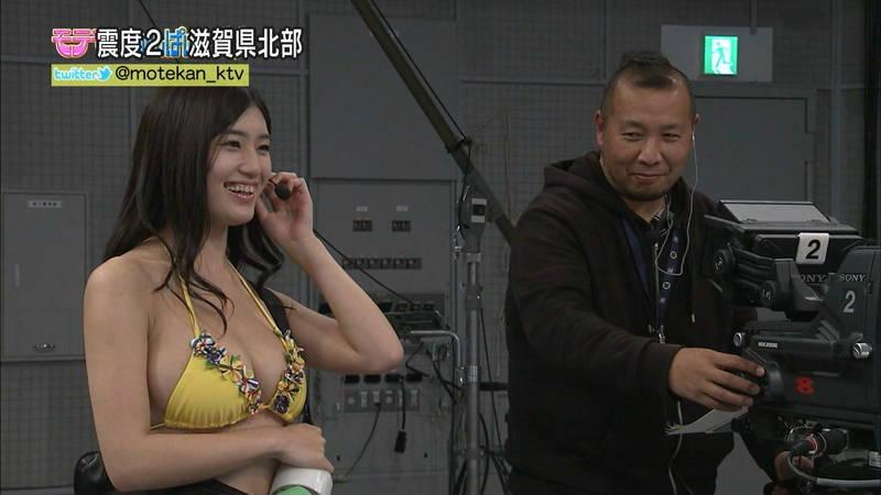 【高崎聖子キャプ画像】エロ水着でADをする高崎聖子が気になって番組内容がどうでもよくなるwww 14