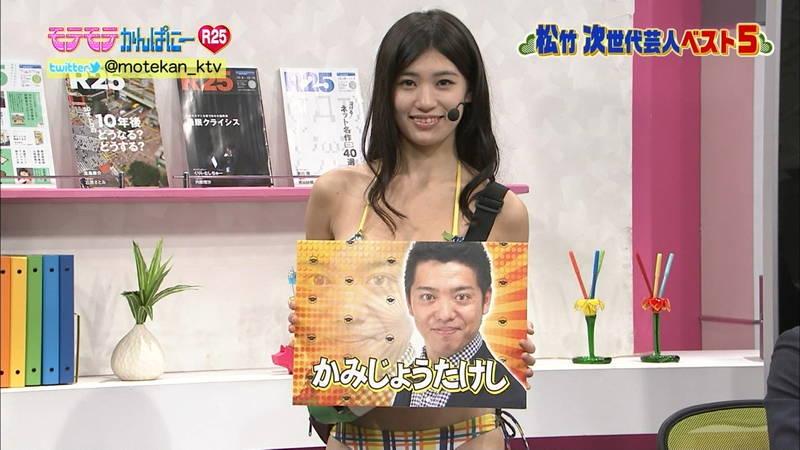 【高崎聖子キャプ画像】エロ水着でADをする高崎聖子が気になって番組内容がどうでもよくなるwww 16