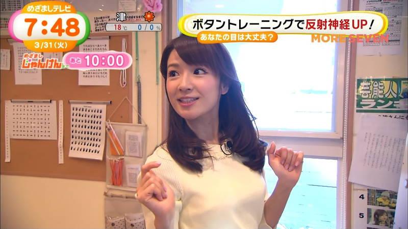 【長野アナキャプ画像】おっぱいの膨らみが凄すぎて企画がどうでもよくなってくる女子アナってwww
