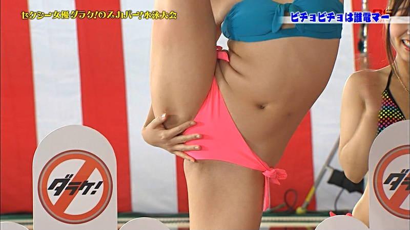 【ポロリキャプ画像】AV女優の水泳大会なんてポロリするためにやってるとしか思えないwww 03