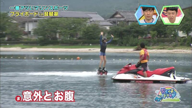 【浅田舞キャプ画像】巨乳が目立ちすぎるウェットスーツでおっぱいアピールがすぎる浅田舞www 22