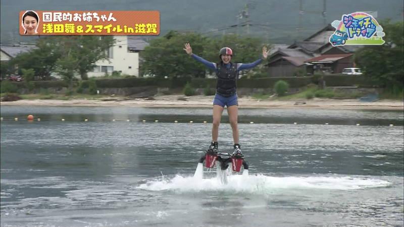 【浅田舞キャプ画像】巨乳が目立ちすぎるウェットスーツでおっぱいアピールがすぎる浅田舞www 24
