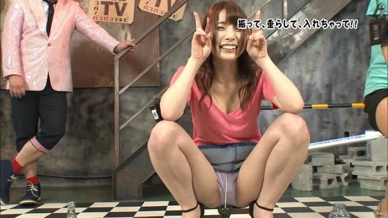 【開脚キャプ画像】テレビでお股広げすぎて中の具までみえそうになってるぞw 01